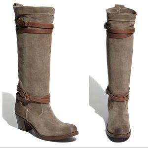 FRYE BOOT JANE STRAPPY FATIGUE TALL BOOT SLOUCHY